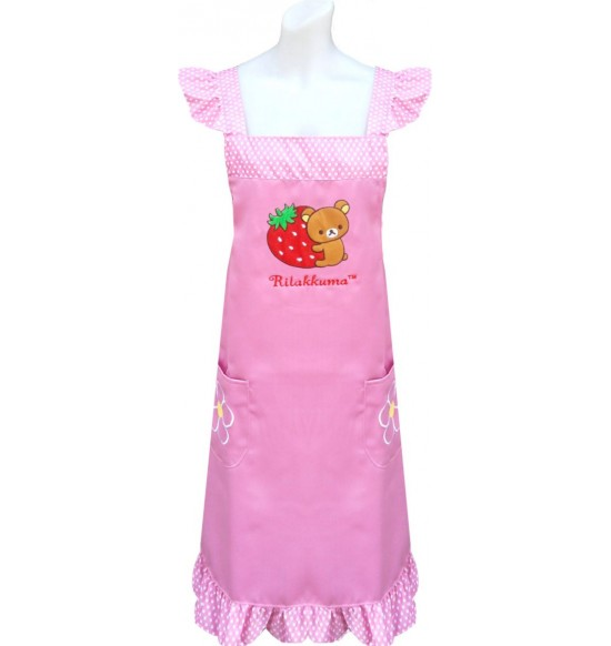 RKG-20902 Rilakkuma 草莓圍裙(電繡) 粉色