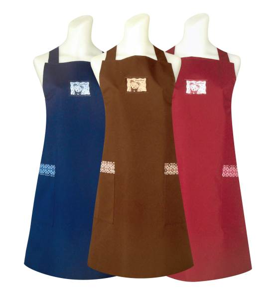 C570 小熊織標(防水)圍裙
