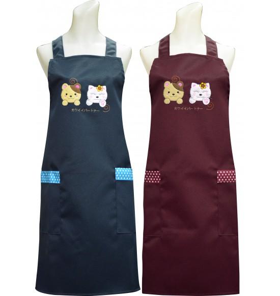 C593 可愛夥伴圍裙(貼布繡)