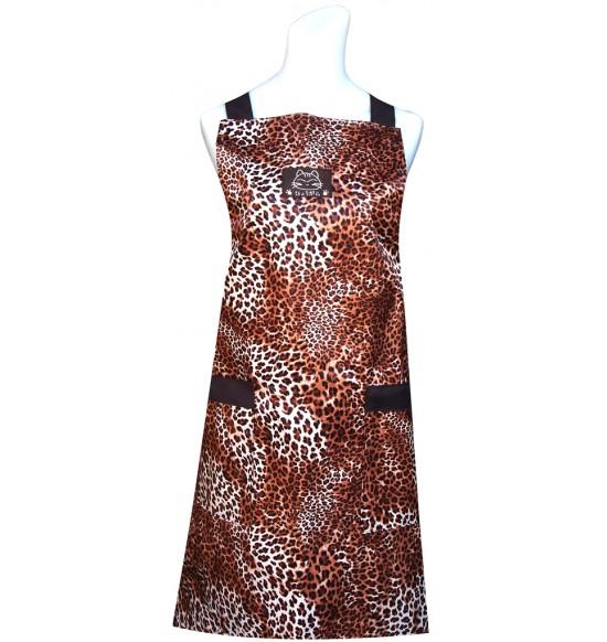 CC512 豹紋圍裙(防水)