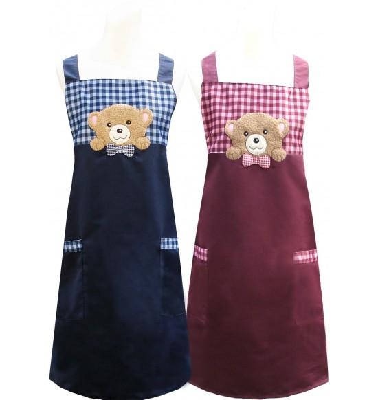 CC526 好奇熊圍裙(貼布繡)