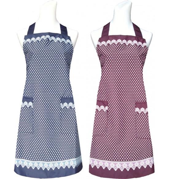 CC528 圓點蕾絲邊圍裙(防水)