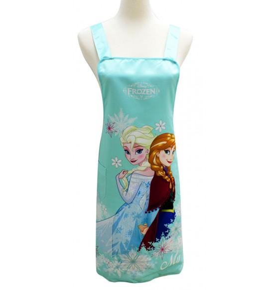 BF220011 冰雪奇緣圍裙-藍綠