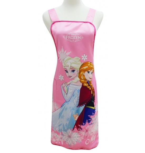 BF220012 冰雪奇緣圍裙-粉