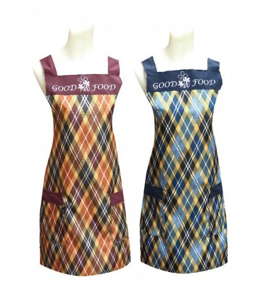 G511 美麗花格子圍裙