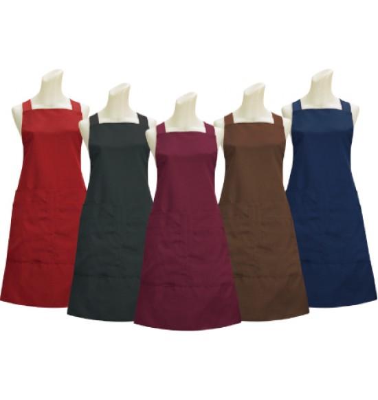 G517 素色四口圍裙
