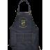 HM512 燙金牛仔圍裙-黑(兩口袋)