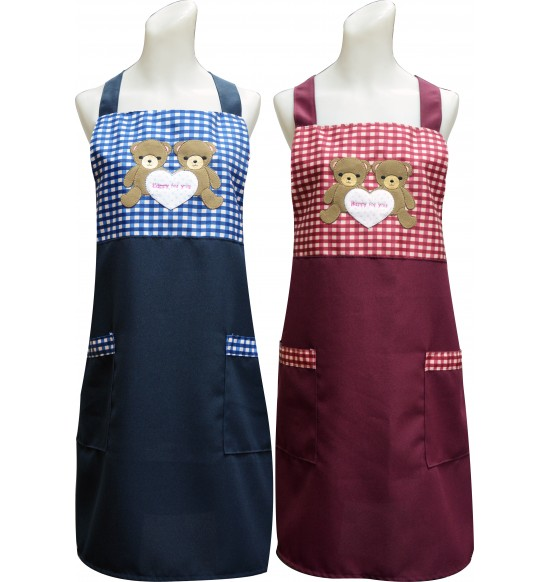 TT515 熊熊愛您貼布圍裙(貼布繡)
