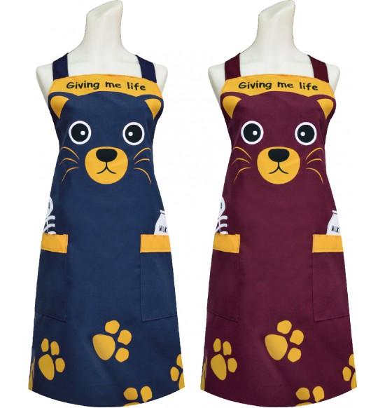 TT520 可愛貓頭圍裙
