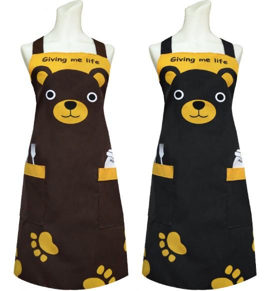 TT521 可愛熊頭圍裙