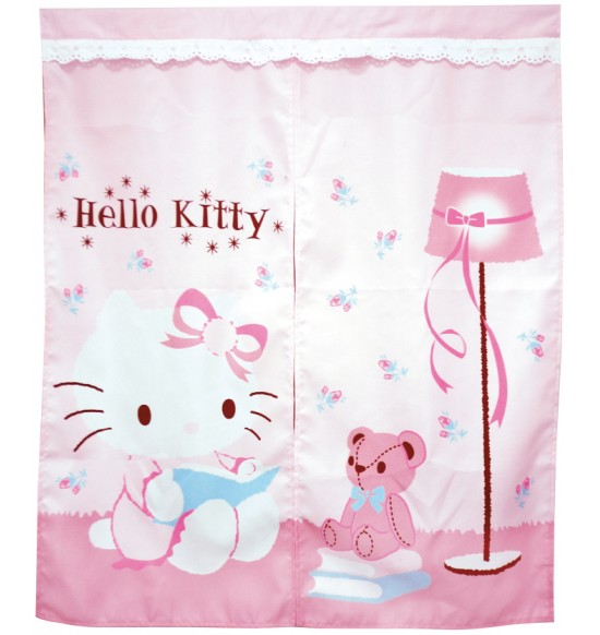 KT-0405 Hello Kitty 抱熊中門簾