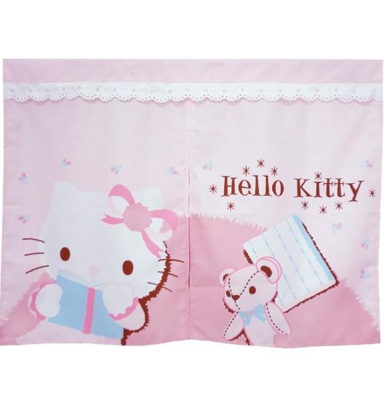 KT-0409 Hello Kitty 抱熊短門簾