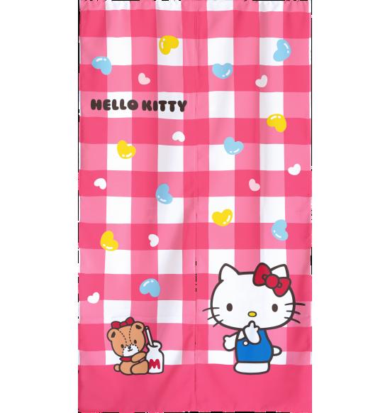 KT2070 Hello Kitty 格子長門簾