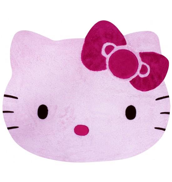 Hello Kitty 造型絨毛地墊 (粉)
